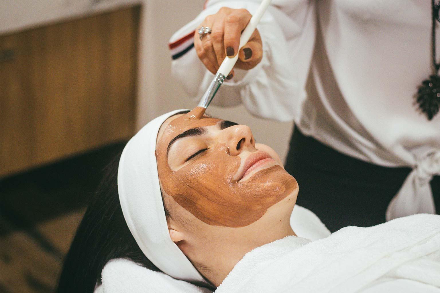 Facial treatment at TRG